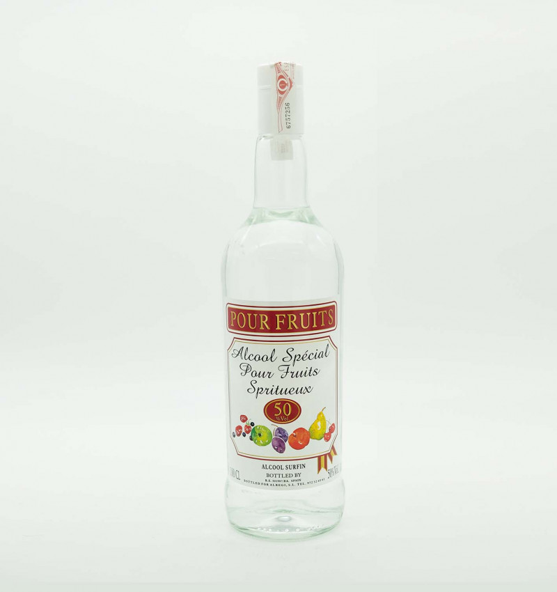 Aguardiente alcool pour fruits 50 graus 1 l la tramuntana