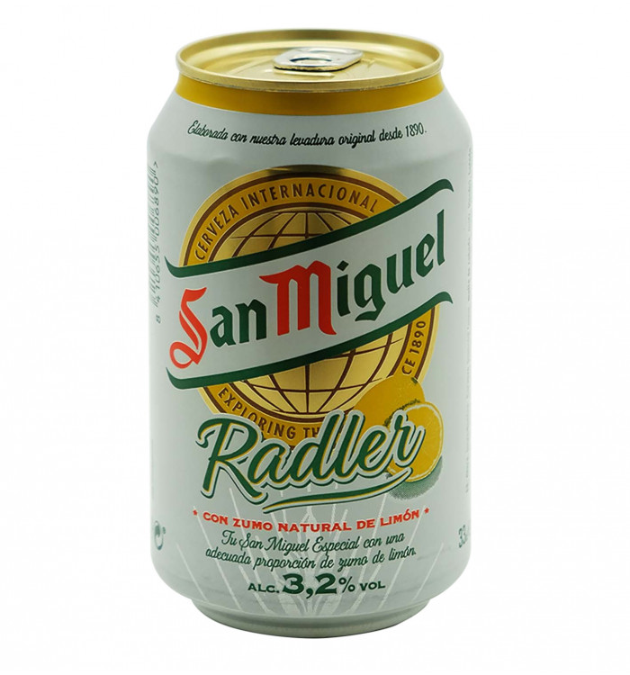 Cerveza san miguel radler 33 cl la tramuntana