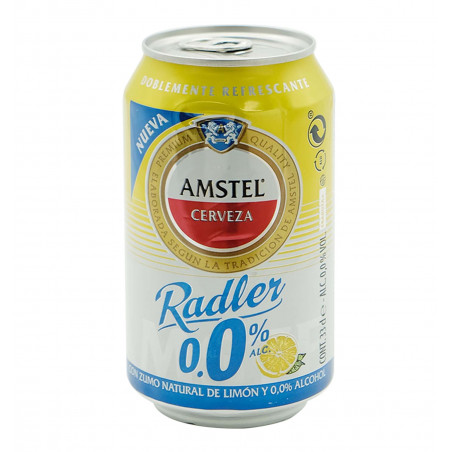 Cerveza amstel radler 00 33 cl la tramuntana