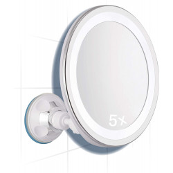 MIR.LED.SUN.V X5 ROUND MAGNIFIED ADJUSTABLE MIRROR WITH DAYLIGHT SUCTION CUP Latramuntana