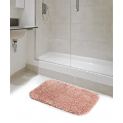 ADHERMAT PINK MICROFIBER BATH MAT WITH NON-SLIP TPR BASE Latramuntana
