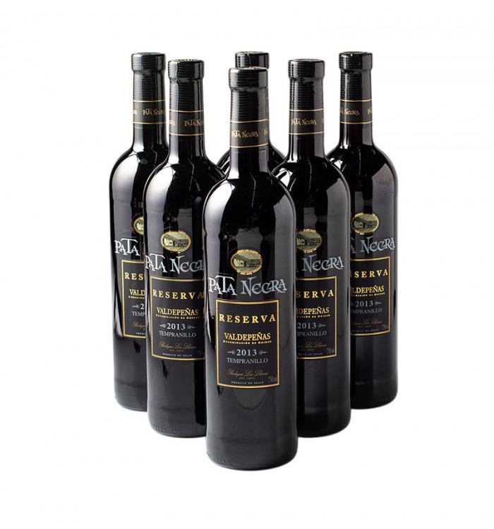 vi negre pata negra reserva 75 cl pack de 6 la tramuntana