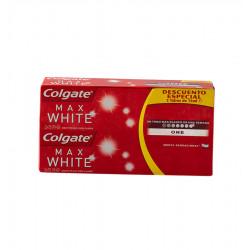 COLGATE TOOTHPASTE 2X75 ML MAX WHITE ONE Latramuntana