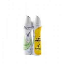 rexona desodorant spray pack de 2 x 200 ml dona aloe de vera la tramuntana