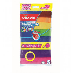 VILEDA MICROFIBRE CLOTHS COLOURS 8 UNITS Latramuntana