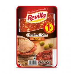 REVILLA SPICY CHORIZO SLICES 85 G Latramuntana