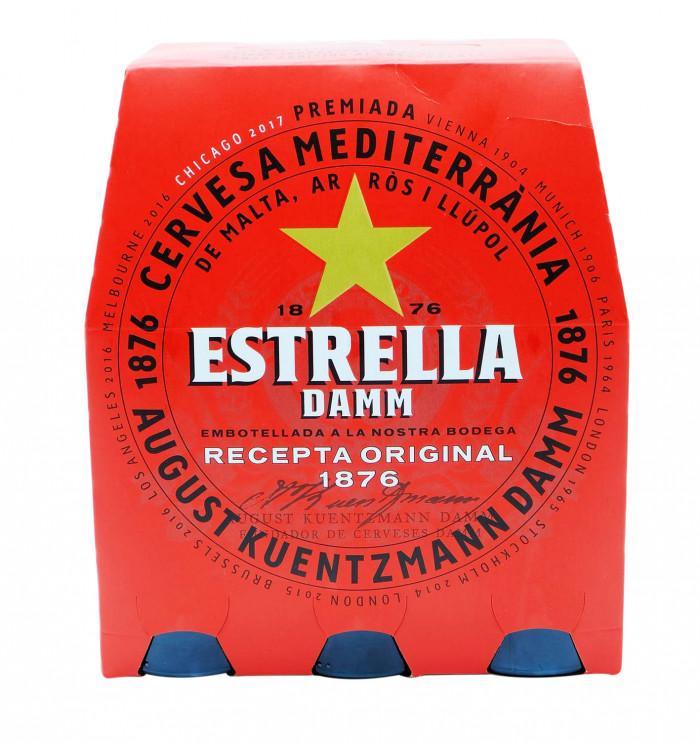 Cerveza estrella damm botella 25 cl pack 6 la tramuntana