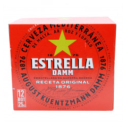 ESTRELLA DAMM 25 CL BOX 12 Latramuntana
