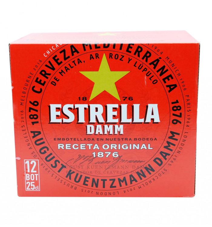 Cerveza estrella damm botella 25 cl pack 12 la tramuntana