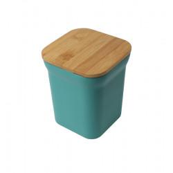 taimir recipiente cuadrado con tapa de bambu la tramuntana