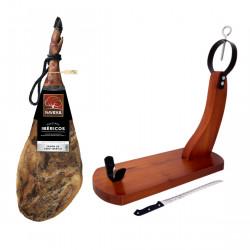 NAVIDUL FODDER-FED IBERIAN CURED HAM WITH STAND AND KNIFE (825KG) Latramuntana